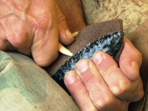 Flint Knapping Knife