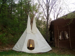Survivaltek Teepee With Deer Hide