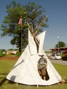 teepee at Granite Falls Boy Scout Day 2010