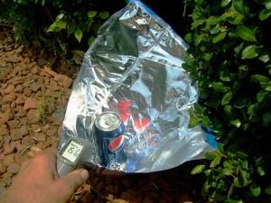 Solar Setup Using Trash Items