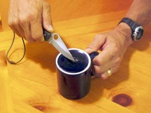 Ceramic Cup Sharpening