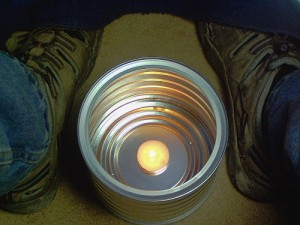 Candle-Powered Personal Heat System