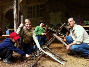 Cub Scout Debris Shelter At Turtle Island Preserve Class