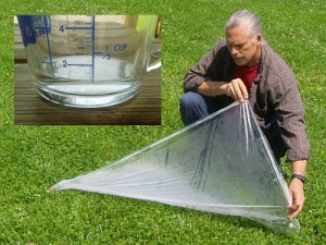 Capturing Water With A Plastic Sheet