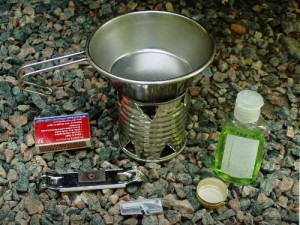 Hand Sanitizer Cooking Setup _ Making Windscreen-Potstand