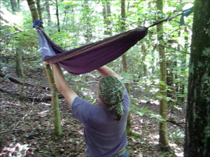 Entering A Hammock From Below