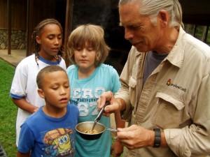 Edibles Class Preparing Mealworms