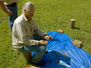 50th Anniversary at W. Kerr Scott - Flint Knapping Demo