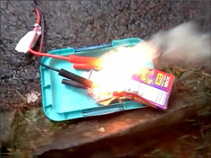 Jumper Cable And Pencil Firecraft Method