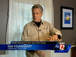 WXII12 Power Outage Segment With Ken Youngquist/founder survivaltek.com
