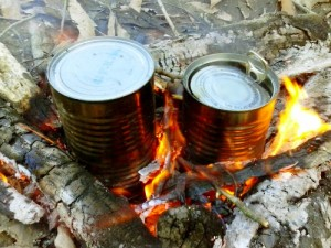 Baking Potatoes In Tin Cans