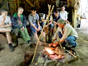 Survival Skills Class At Summer Boys Camp 2013 At Turtle Island Preserve