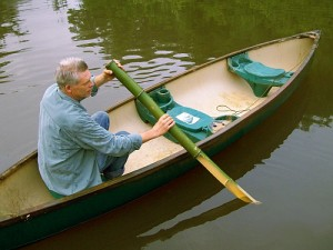 Improvised Bamboo Paddle