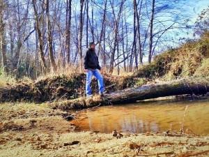 Crossing Moravian Creek