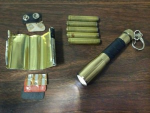 six AAAA batteries within a 9V battery