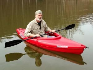 First Kayak On Water