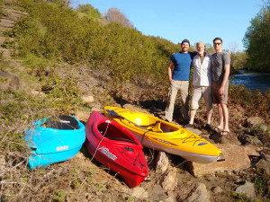 Maiden Voyage Blue Kayak Launch