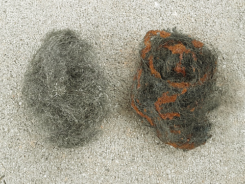 Steel Wool Plain And With Rust