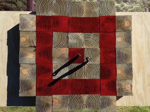 Wood Block Throwing Target