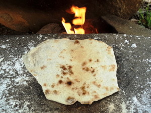 Stone Surface Cooking Bannock