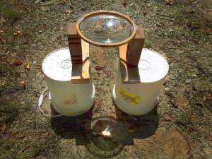 Water Lens Solar Fire Method