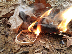 Rubber Band Fire Starter