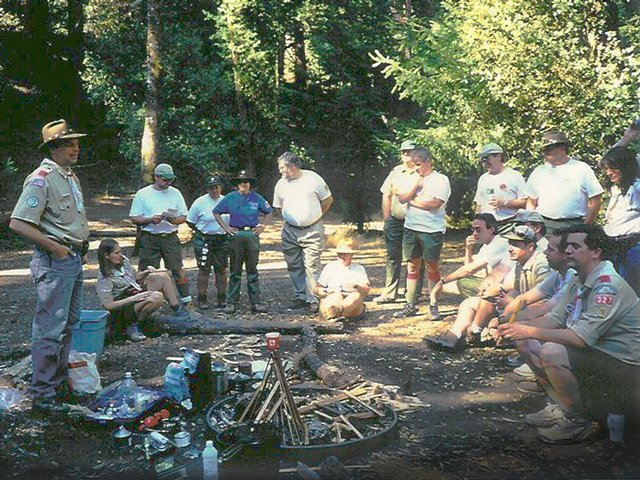 BSA Leadership Training Camp Fire Class